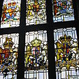 Stained glass at the Harrow School War Memorial