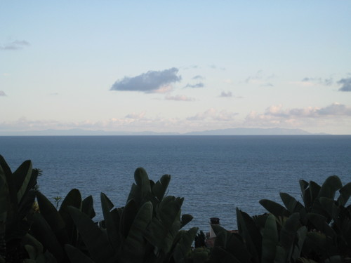 Catalina Island in the distance, out to sea