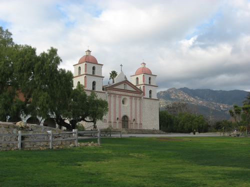 The Santa Barbara mission was founded in 1786.