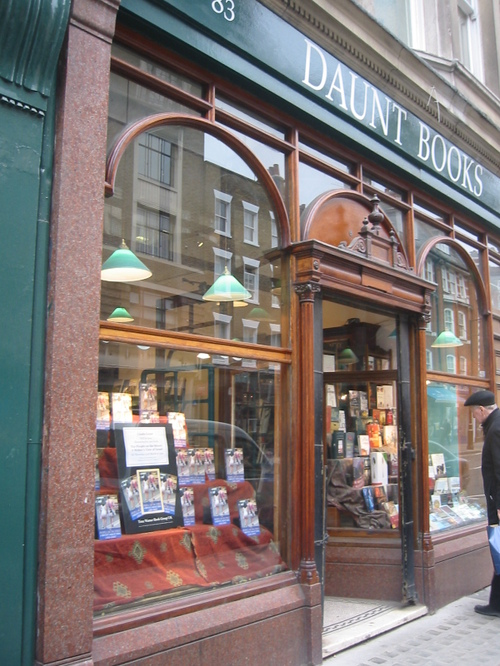 Daunt, the independent bookstore on Marylebone High Street, is my favorite bookstore in the world.