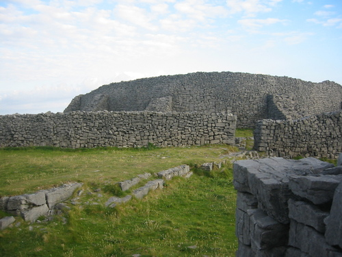 Dun Aengus, Inishmore, with 19th-century buttresses