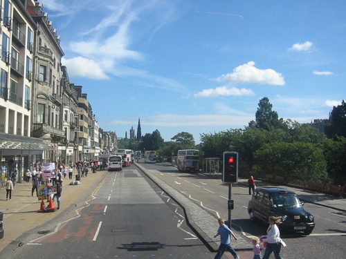 Edinburgh from the double-decker bus