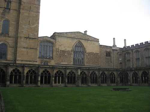 Durham Cathedral cloister in the snow, March 2007