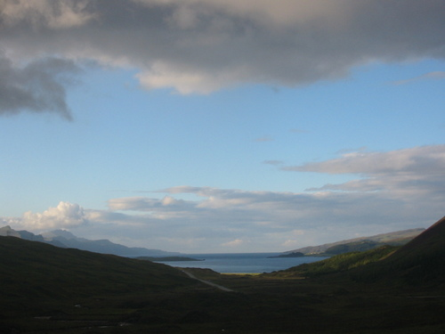 On the way north to Portree, Skye