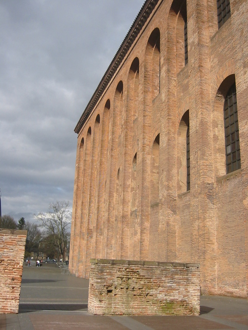 Trier, the side of the Aula Palatina