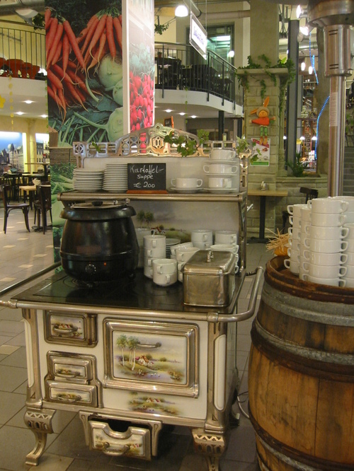 Trier, stove in the Markthalle