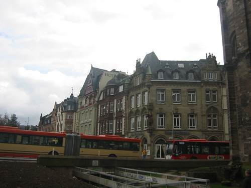 Trier, Victorian-era hotels at the Porta Nigra