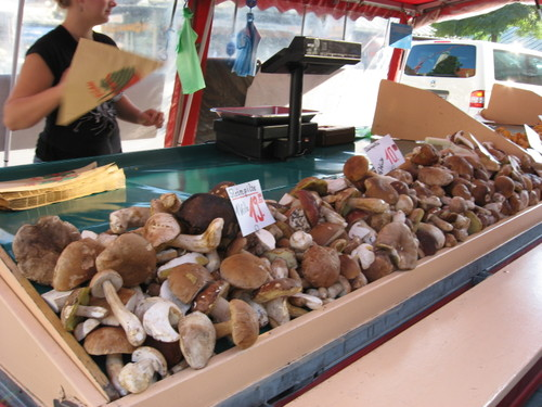 Wild mushrooms at the Viktualienmarkt