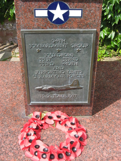 Bury Saint Edmunds, Suffolk: Memorial to WW II U.S. airmen
