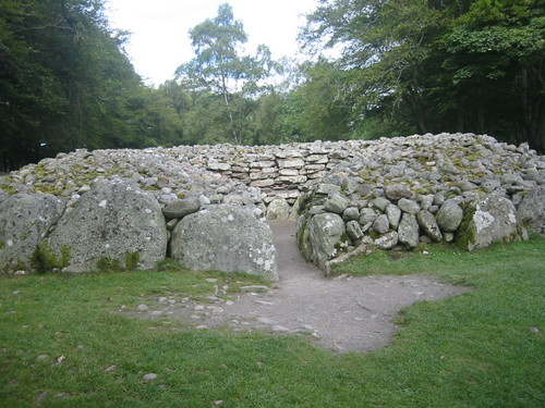 Clava Cairns, prehistoric tombs near Inverness, Scotland