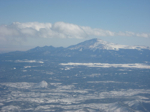 Pikes Peak, Colorado, from the air