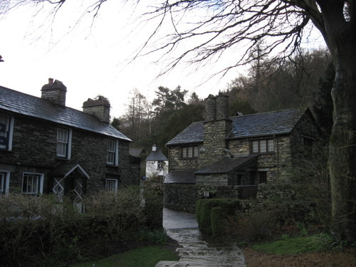 Dove Cottage in the Lake District, England, where Wordsworth lived in his early years as a poet