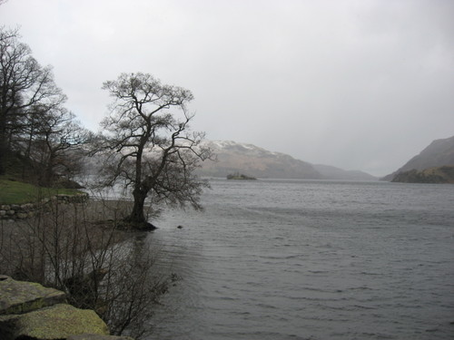Lake District, England, Ullswater in the snow, March 2007