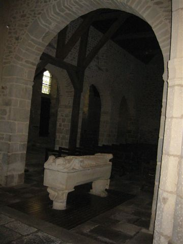 A tomb in ancient chapel near Dinard