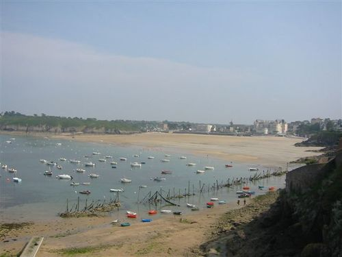 The beach at Dinard, Brittany
