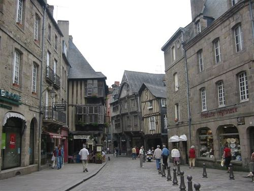 The old centre-ville of Dinan, Brittany