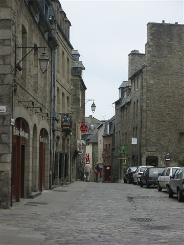 Street in Dinan, Brittany