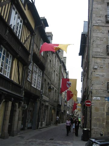 Downtown street, Dinan, Brittany