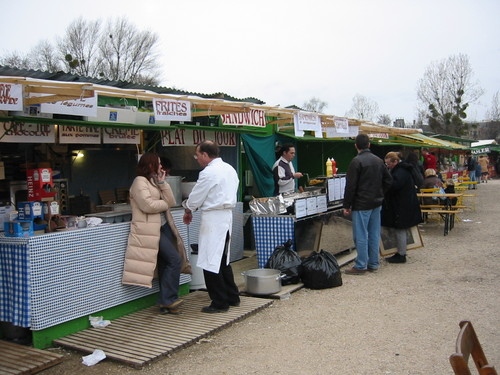 The ham and antiques fair of Chatou is held twice a year in a suburb of Paris.