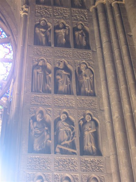 Rheims Cathedral, near the door.