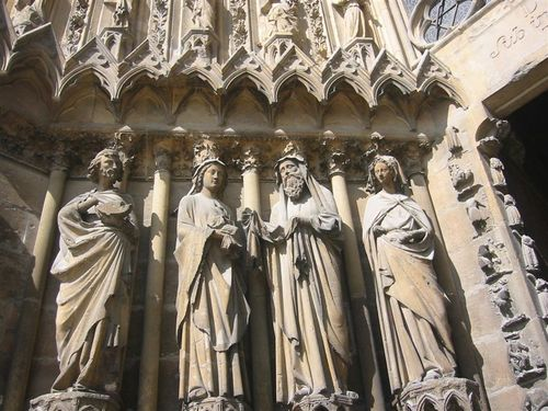 Rheims Cathedral, above the door