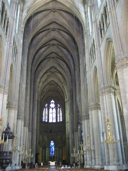 Interior of Rheims Cathedral, France.