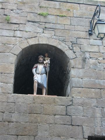 Saint Christopher in Saint-Malo city wall