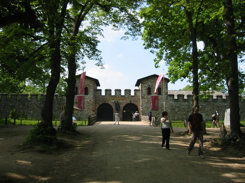 Saalfurt Roman fort, outside Frankfurt, Germany