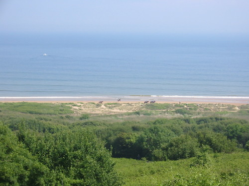 Omaha Beach from the American Cemetery, June 6, 2004 - Sedulia blogs.com