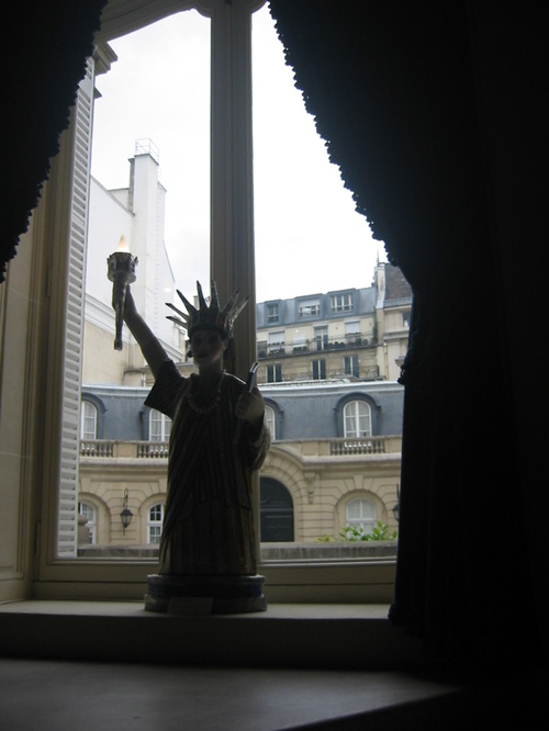 Statue of Liberty folk art, U.S. ambassador's residence, Paris