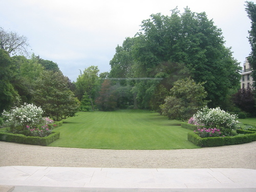 Terrace and garden, U.S. ambassador's residence, Paris