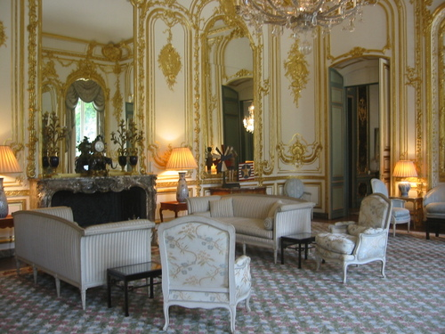 Reception room at U.S. ambassador's residence, Paris