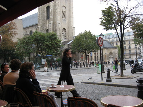 Smoker at Saint-Germain